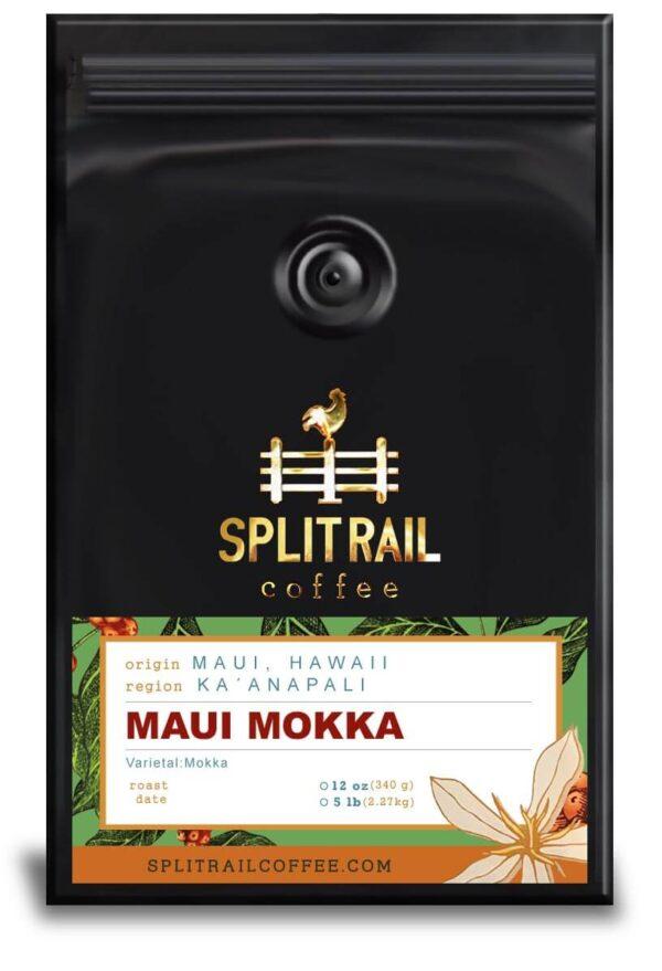 Hawaiian Maui Mokka is a single origin, small batch coffee that is unique and dark chocolatey