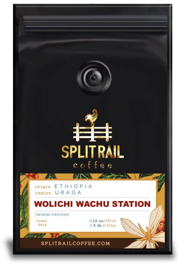 Ethiopian Wolichi Wachu Station is a single origin, small batch coffee, a bourbon varietal with a sweet floral flavor