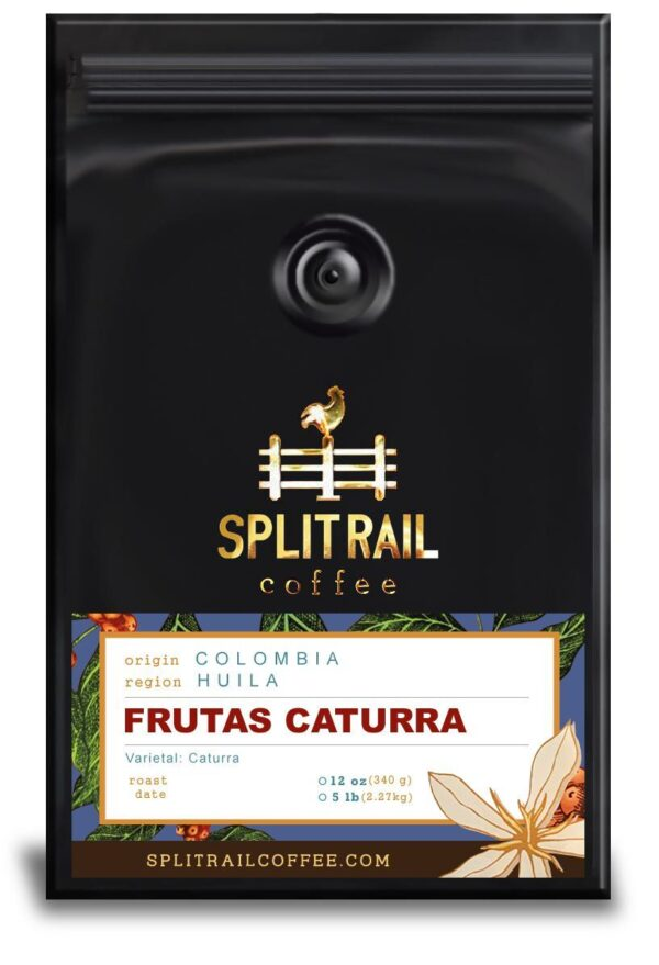 Colombian Frutas Caturra is a single origin, small batch coffee that balances tart and sweet flavors